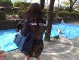 Mikan Amazing Asian schoolgirl enjoys her flashing fun picture 15