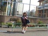 Mikan Amazing Asian schoolgirl enjoys her flashing fun