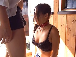 Steaming Japanese mature chick with nice ass enjoys cock in mouth