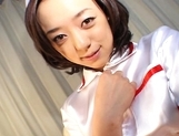 Rina Yuuki Hot Japanese nurse spreads her legs picture 2
