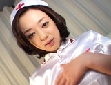 Rina Yuuki Hot Japanese nurse spreads her legs picture 6