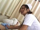 Erena Fujimori Asian nurse gives a hot blowjob picture 15