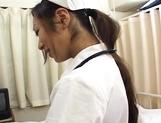 Erena Fujimori Asian nurse gives a hot blowjob