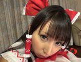 Lustful teen in sexy costume Yuuki Itano likes hardcore