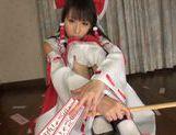 Lustful teen in sexy costume Yuuki Itano likes hardcore picture 11