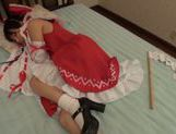 Lustful teen in sexy costume Yuuki Itano likes hardcore picture 12