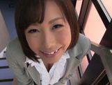 Kanari Tsubaki hot Asian milf exposes amazing ass