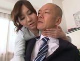 Sexy Asian teacher Yui Tatsumi fucks her horny boss picture 15