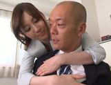 Sexy Asian teacher Yui Tatsumi fucks her horny boss picture 9