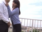Rough pantyhose fuck with hot teacher Kimika Ichijou picture 6