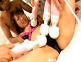 Glorious Japanese AV model Kana Mimura gets anal plug and assfuck picture 9