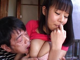 Busty Shiori Tsukada Asian teen gets nasty on a fat dong