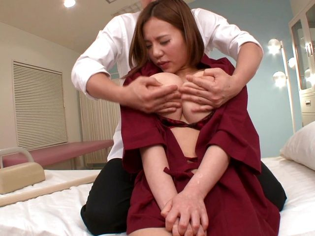 Busty milf Ruri Saijo gets fucked hard by a horny massage therapist