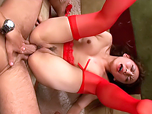 Appetising Asian stunner Mizuki Hana enjoys anal Asian sex game