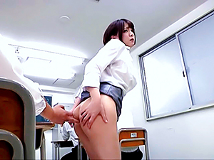 Ryo Tsujimoto hot Asian milf gets anal in public place