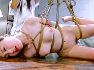 Anri Hoshizaki tied and screwed hard