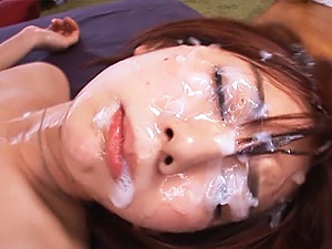 Group action for a horny Asian babe Mayu Nozomi