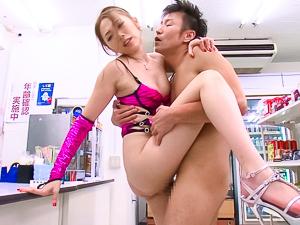 Asami Ogawa fucks for the shop's camera