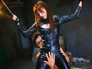 Bondage stimulation for sleazy Rina Rukawa