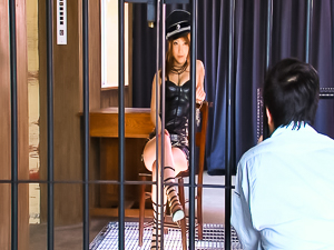 Kokomi Sakura Japanese hottie is a prison worker who sucks cock