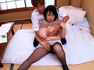 Hardcore sex with Japanese mature with big boobs