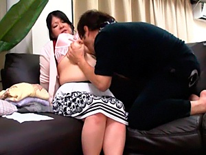 Mature Japanese AV Model is big boobed horny housewife