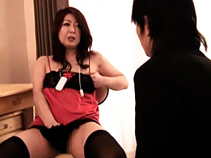 Hot Japanese mature masturbation pleasures
