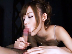 Spicy JP MILF Aino Kishi rides and sucks a dick for sperm