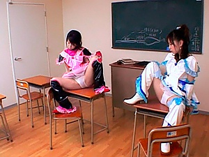 Airi and Meiri Hot Asian girls have cosplay adventure