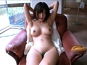 Busty Asian princess Yuzu Ogura stretches pussy for teasing
