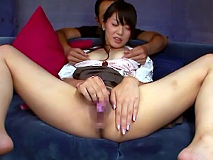 Hot fuck and sexy babe Aoi Mikuriya bending over and get her eager cunt finger fucked