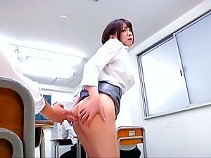 Ryo Tsujimoto hot Asian milf gets anal in public place