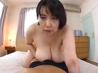 Smashing tit fuck with Japanese mature Misuzu Tomizawa in heat