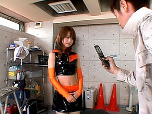 Akiho Yoshizawa Beautiful Asian doll has a sexy costume for fucking