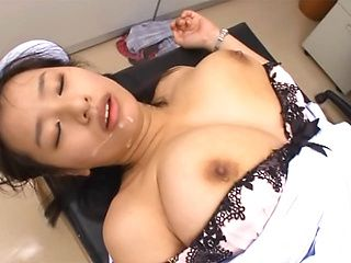 Asian nurse with huge tits Hana Haruna gets licked gives a perfect ride