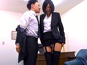 Harsh anal sex at work with naughty Uta Konahu