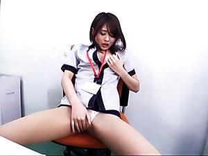 Delightful office fuck involving fine Asian babe