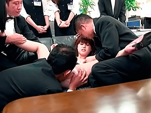 Shameless Asian office chick enjoys having hardcore copulation publicly