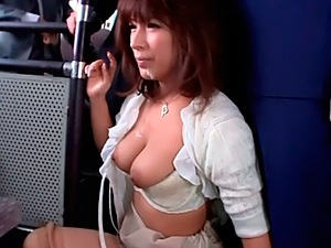 Kinky Japanese milf Nami Hoshino gets pounded in a bus