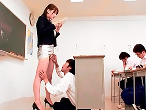 Horny teacher Anri Okita gets banged by student