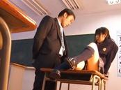 Delicious Ruka Kanae in school uniform gets pussy licking
