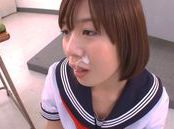 Nice Japanese teen Wakaba Onoue in afterschool special