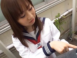 Outdoor blowjob by steamy teen Momoka Sakai