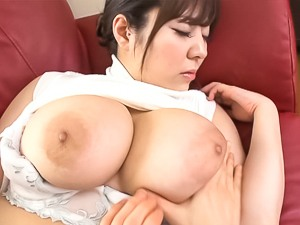 Busty asian milf in stockings is banged
