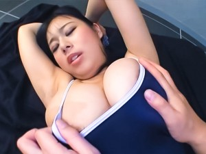 Appetising amateur lady Shiori Tsukada gets her huge tits fucked
