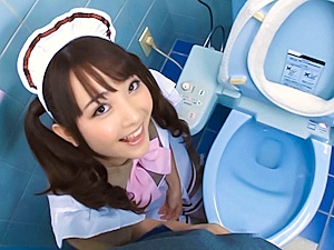Yui Sasaki amateur Asian maid in cosplay sex in the toilet