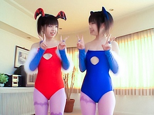 Airi and Meiri Two nice Asian teens in cosplay