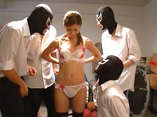 Wild gang-bang action with horny and filthy Akari Asahina