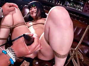 Serious bondage anal with Japanese bimbo An Koshi