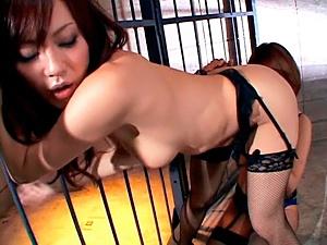 Hot milf Rino Imano and Natsumi Horiguchi lesbian pleasures